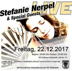 Live in Concert - Stefanie Nerpel & Special Guests Flyer